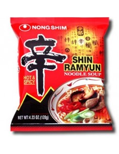 Zupka makaron ramen, shin ramyun 120g Korea, OSTRA
